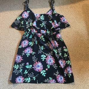 Mimi Chica Floral Print Ruffle Dress